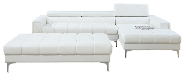 Potenza 2 pieces sectional sofa with ottoman upholstered for 2 pieces sectional sofa