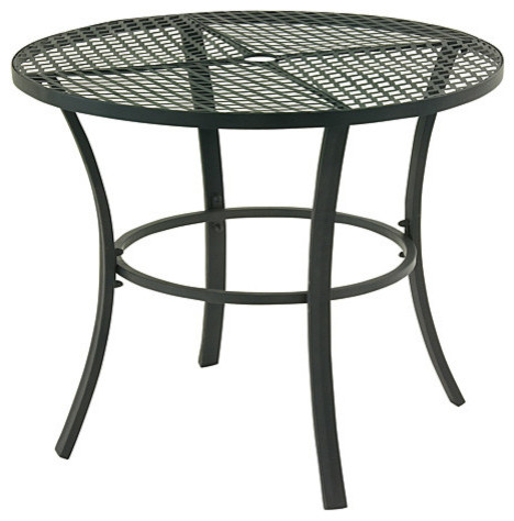 Benzara Beautiful Metal Round Outdoor Table Contemporary Outdoor Dining T