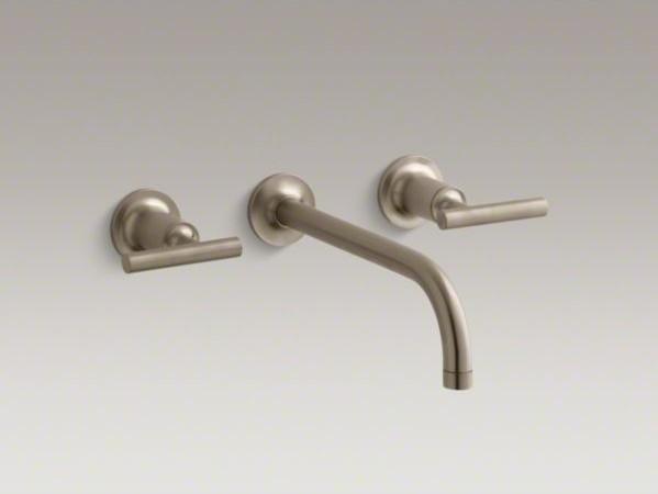KOHLER Purist(R) wall-mount bathroom sink faucet trim with lever ...