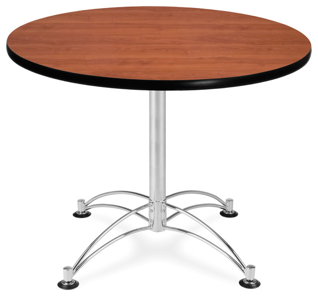 Round Study Table 36 Cherry Craftsman Dining Tables By OFM