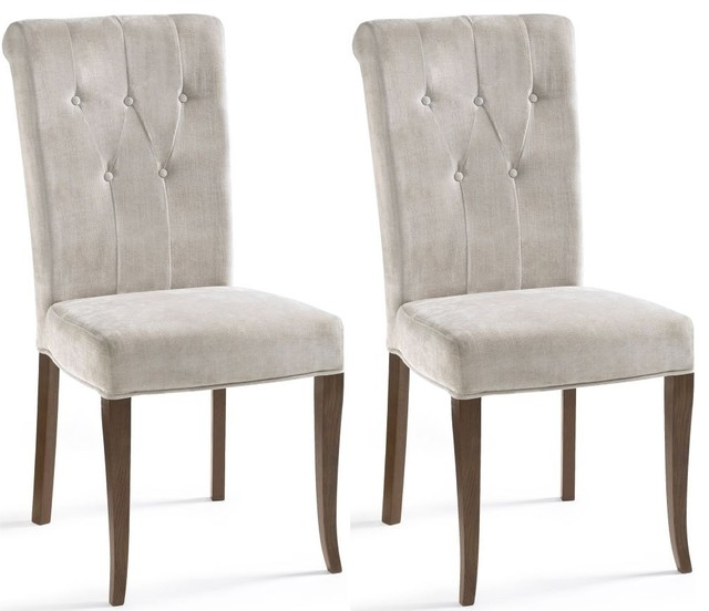 Bentley designs rochelle dining chair upholstered pair
