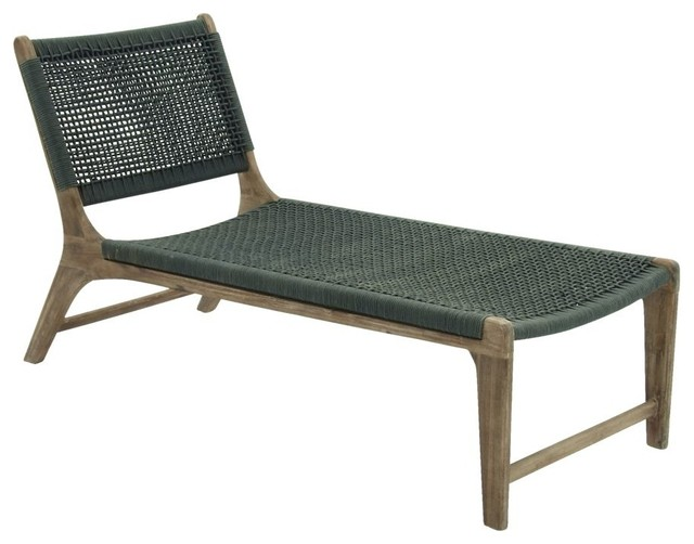 Wood Rope Lounge Chair Indoor Chaise Lounge Chairs by Brimfield & May