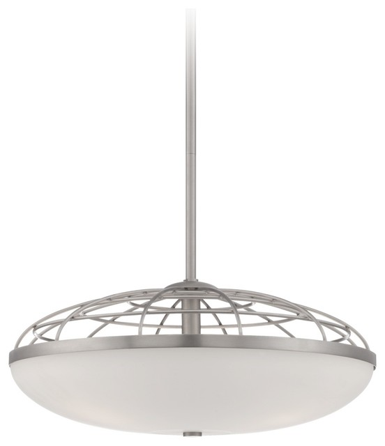 Possini euro industrial open cage glass pendant light for Possini lighting website