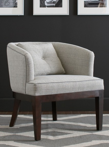 Libby langdon upholstery furniture for braxton culler for Small contemporary armchairs