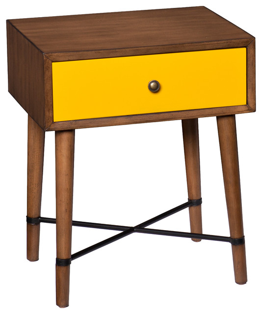 Upton Home Niles Yellow Accent Table Contemporary Side Tables End Tables By