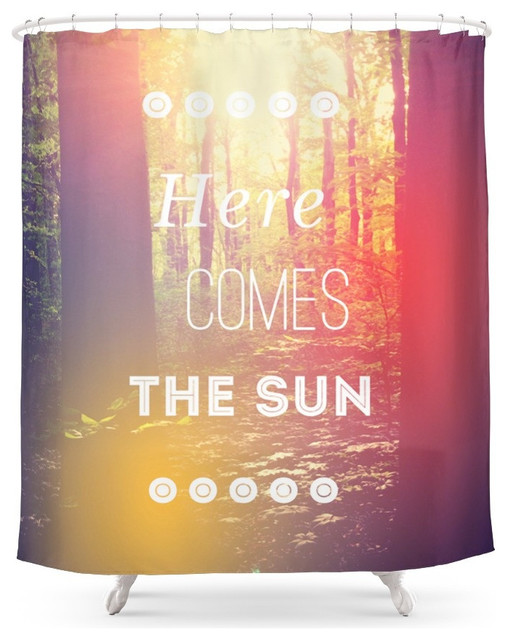 Society6 Here Comes the Sun Shower Curtain  Shower Curtains  by Society6 # Sun Shower Spa_161739