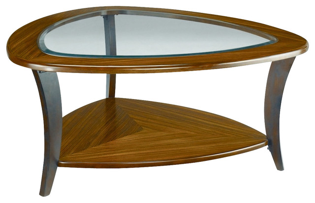 Hammary Flair Glass Top Cocktail Table Traditional Coffee Tables By Beyond Stores