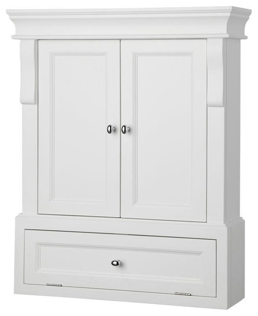 Foremost cabinets naples 26 1 2 in w wall cabinet in for Bathroom cabinets naples fl
