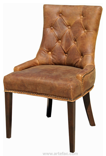 antique brown accent leather dining chair rustic dining chairs. Black Bedroom Furniture Sets. Home Design Ideas