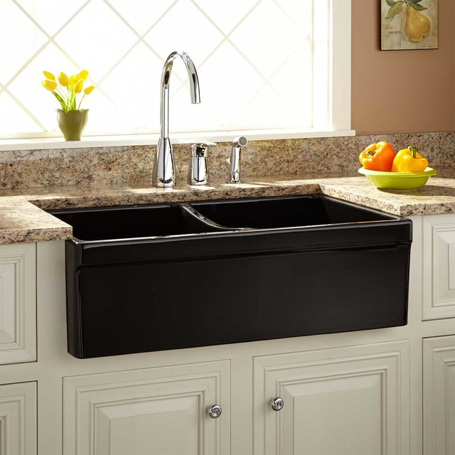 Black Double Sink Kitchen : All Products / Kitchen / Kitchen Fixtures / Kitchen Sinks