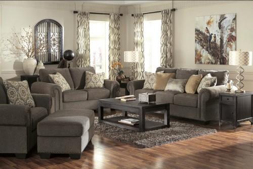 Open Floor Plan With Corner Fireplace