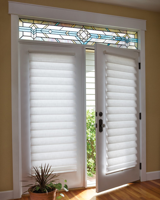 french door blinds shades vignette roman shades on a french door traditional roman. Black Bedroom Furniture Sets. Home Design Ideas