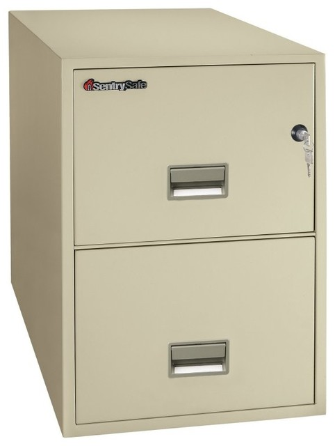 SentrySafe G2531 Water Resistant 2 Drawer Legal Vertical Filing Cabinet - 2G2531 contemporary ...