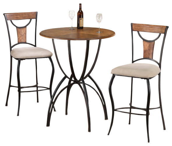 hillsdale pacifico 3 piece pub table set traditional indoor pub and bistro sets by beyond. Black Bedroom Furniture Sets. Home Design Ideas