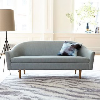 Billie Tightback Sofa, Yarn Dyed Linen Weave, Seafoam - Sofas And ...