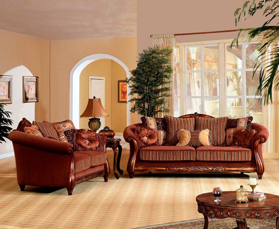 Traditional living room furniture traditional sofas for Best sofa sets for living room