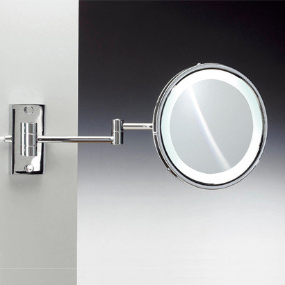 Wall Mounted Lighted Magnifying Mirror Contemporary