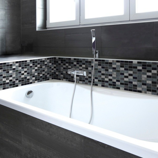 Myka Silver And Black Mosaic Tiles Direct Tile Warehouse