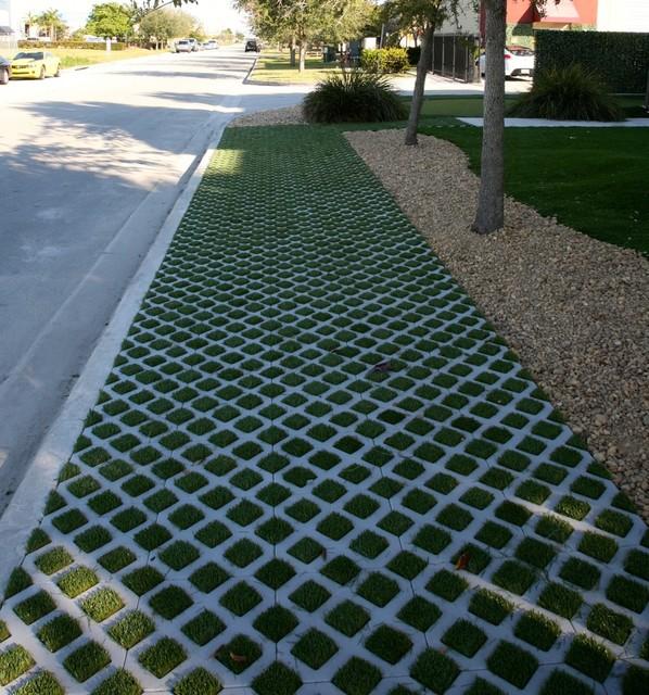 Easy Grass Block Walkway