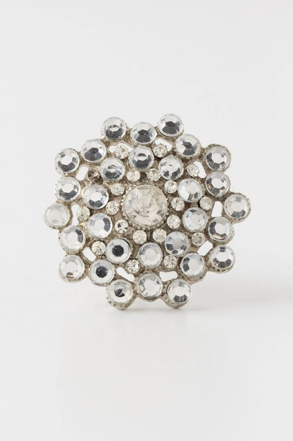 Keepsake Brooch Knob, Silver - Eclectic - Cabinet And Drawer Knobs - by Anthropologie