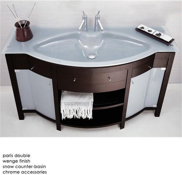 Paris bathroom vanity contemporary bathroom vanities for Bathroom consoles and vanities