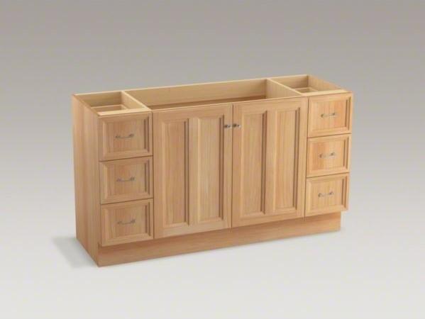 Kohler Damask Tm 60 Vanity With Toe Kick 2 Doors And 6 Drawers Contemporary Bathroom