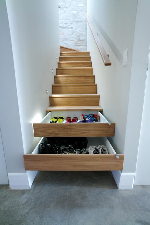 ukryte szuflady w schodach