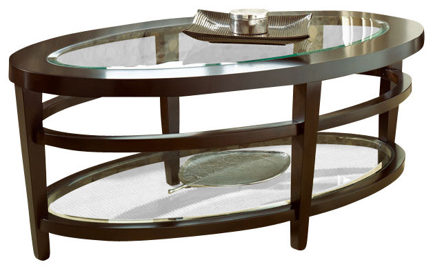 Hammary Urbana Glass Top Oval Cocktail Table Set Traditional Coffee Table Sets By Beyond