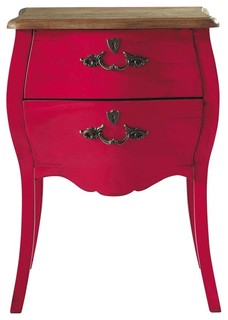 Haute couture pink nightstand traditional nightstands - Table haute cuisine maison du monde ...