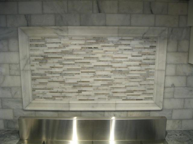 white marble backsplash boston by tile gallery