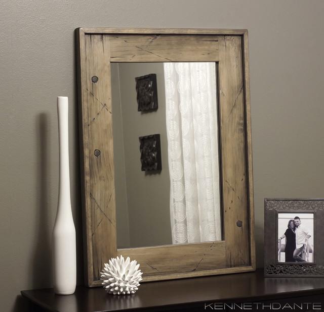 Framed bathroom vanity mirrors - Wood Framed Mirrors Rustic Milwaukee By Kennethdante Woodworks
