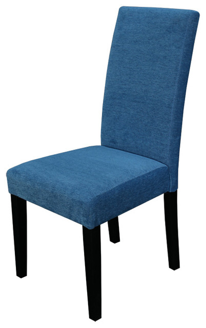 Aprilia Blue Upholstered Dining Chairs Set Of Two Contemporary Dining Ch