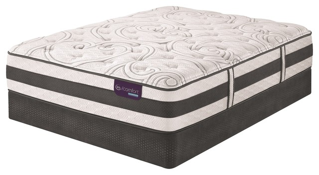 Serta icomfort hybrid recognition plush mattress box for How long does a spring mattress last