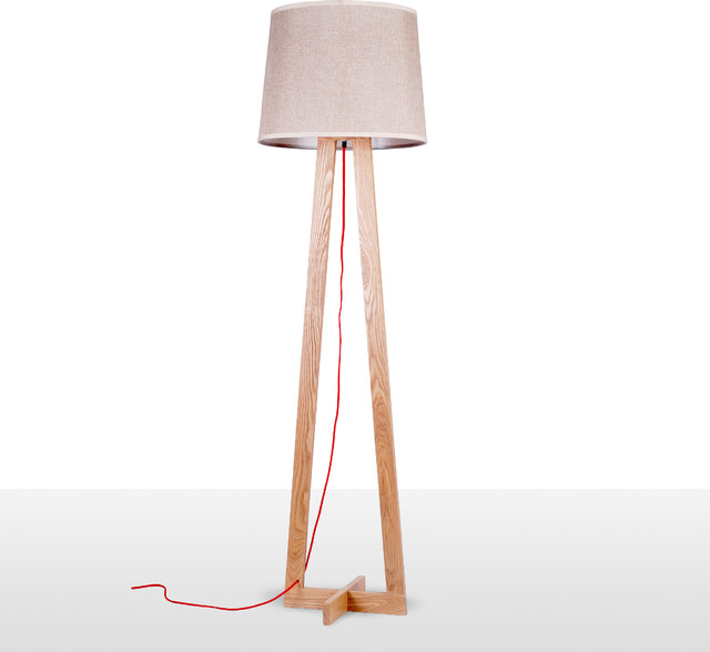 Modern tall floor lamps with fabric shade modern floor for Tall lantern floor lamp