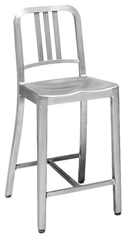 1006 Navy Counter Stool Industrial Bar Stools And