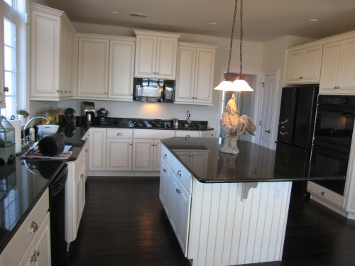 ... antique off white finish. I am also thinking of removing the granite b