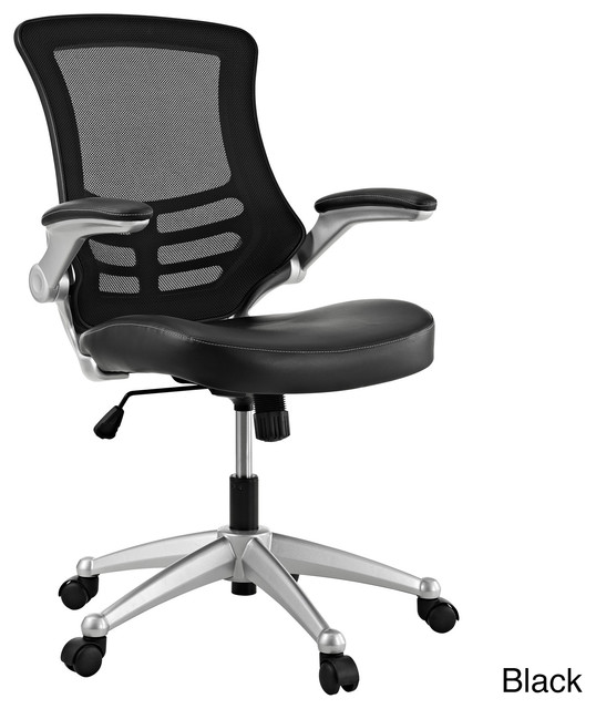 black mesh back and leatherette seat office chair contemporary office