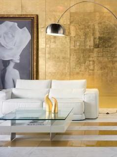 Pan De Oro Dune Gold Glass 12x24 Tile Contemporary