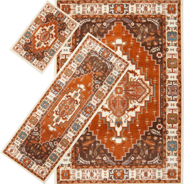 Woven Multi Southwestern 3 Piece Rug Set Contemporary Rugs By