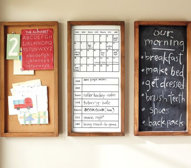 Daily organization system modern bulletin boards and for Modern bulletin board