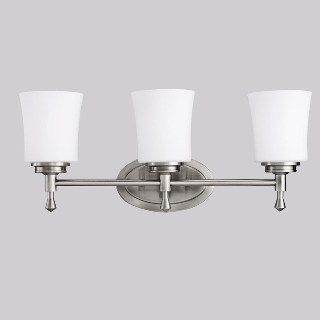 Kichler Lighting - 5361NI - Wharton - Three Light Bath Fixture - Transitional - Bathroom Vanity ...