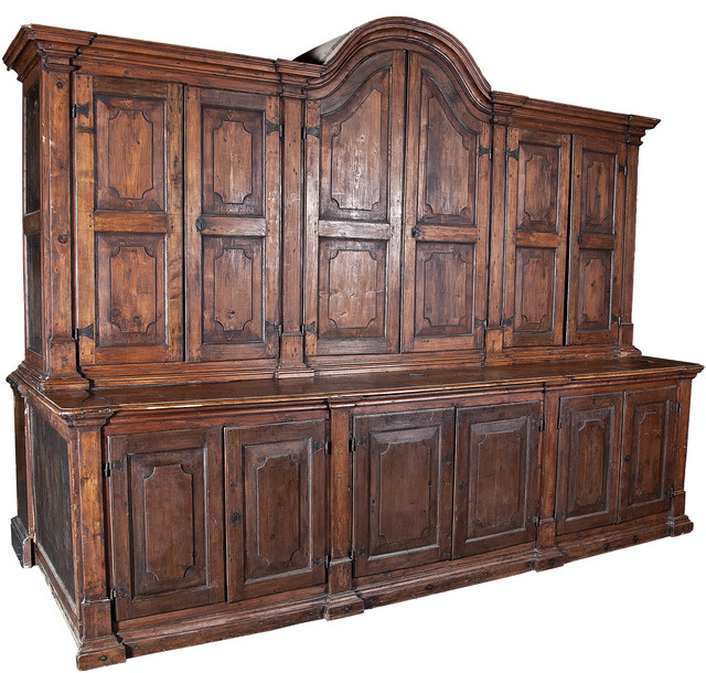 Consigned, Antique Spanish Colonial Massive Cabinet C. 1800 - Traditional - China Cabinets And ...