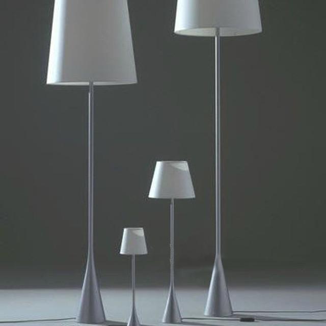 Modern Metal Floor Lamp: Modern Slim Metal And Fabric Shade Floor Lamp