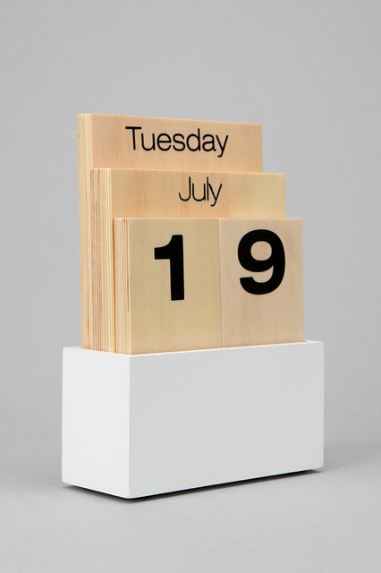Wood Shuffle Desktop Calendar - Modern - Desk Accessories - by Urban ...