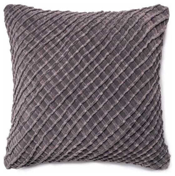 Throw Pillows Charcoal : Lattice Throw Pillow- Charcoal - Transitional - Decorative Pillows - by Trovati Studio