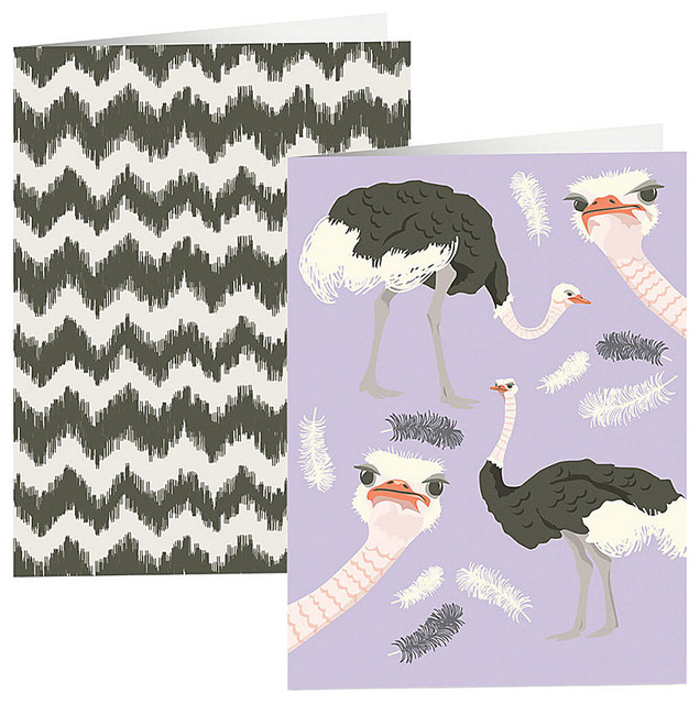 Ostrich & Chevron Pocket Folders - Contemporary - Desk Accessories ...