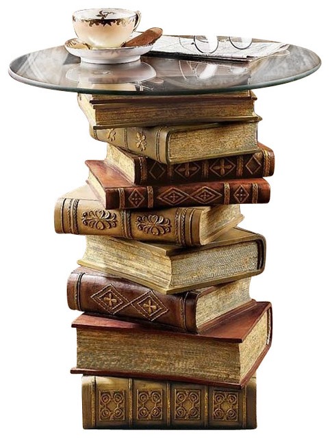 Power Of Books Side Table Eclectic Side Tables And End
