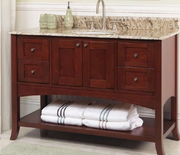 shaker bathroom vanity 2