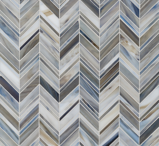 Swinging Chevron Wall And Floor Tile New York By
