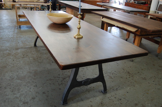 Antique Iron Machine Legs Contemporary Dining Tables